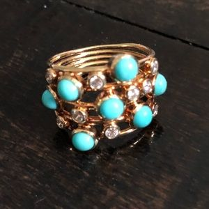 Ippolita Turquoise/Diamond Ring